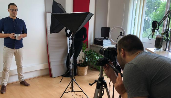 Fotoshooting in den soundlarge-Studios.